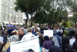 تجمع اعتراضی معلمان و فرهنگیان در روز جهانی معلم