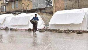 بارندگی و زلزله زدگان
