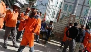 تجمع اعتراضی کارگران شهرداری میاندوآب