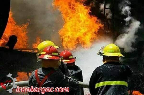 اعتراض آتشنشانان تهران
