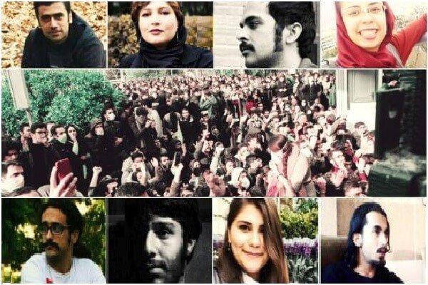 دستکم ۱۰۲ دانشجوی بازداشت شده در تظاهرات مردمی + اسامی و محل دستگیری