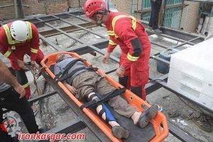 جان باختن کارگر ساختمانی