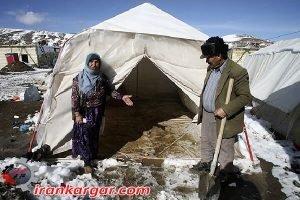 حرفهای دخترکان کرد زلزله زده در یخبندان وحشتناک کرمانشاه