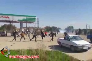 حمله به جوانان معترض