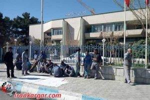 اعتراض کارگران شهرداری کرمان