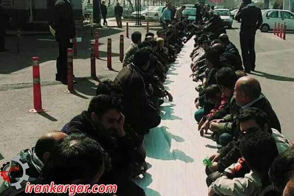سفره کارگران در عید