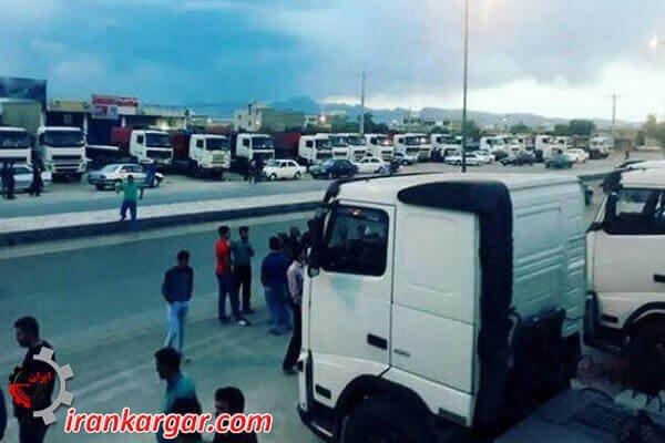 Image result for اعتصاب سراسری رانندگان کامیون باری