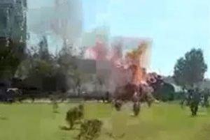 عکس انفجار تانکر سوخت