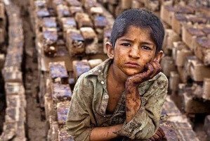 عکسی از کودکان کار