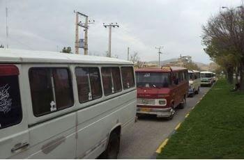اعتراض رانندگان مینیبوس