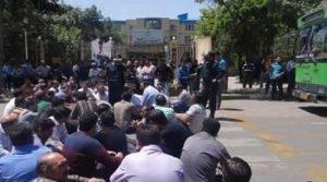 تجمع اعتراضی کارگران عکس ۱