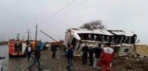 حادثه سقوط اتوبوس