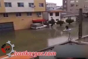 بارندگی بندر انزلی قایق