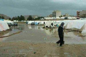 بارندگی و وضعیت زلزله زدگان