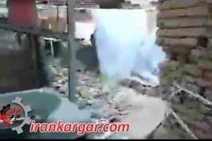 مادر پیر زلزله زده
