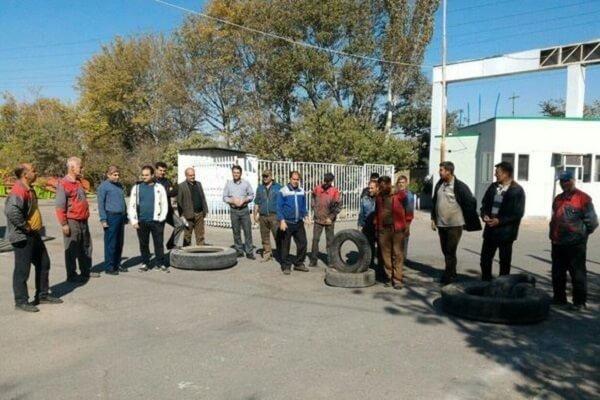 سیامین روز اعتراض صنفی کارگران کمباین سازی تبریز