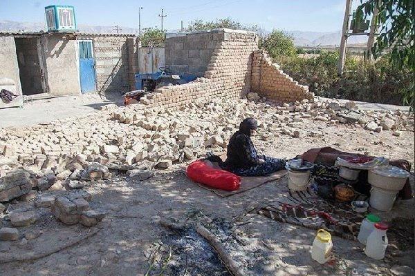بحران سرما در مناطق زلزله زده