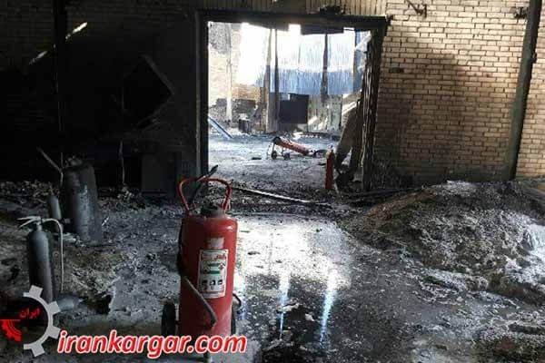 در آتش سوختن کارخانه کاراپلاستیک سیرجان