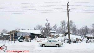 بارش برف و کولاک در تهران