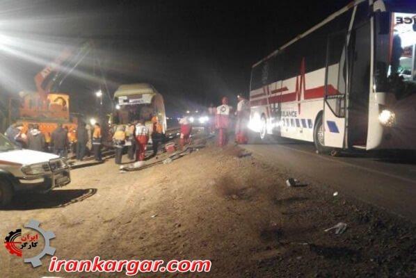 واژگونی اتوبوس در مسیر گچساران مشهد