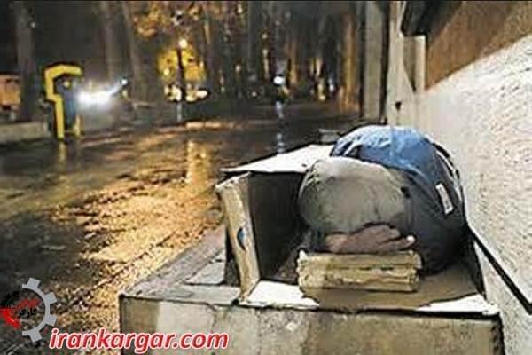 مرگ ۱۳ کارتن خواب بر اثر سرما در تهران