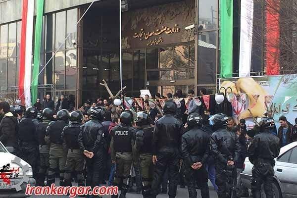 تجمع اعتراضی کارگران کیان تایر