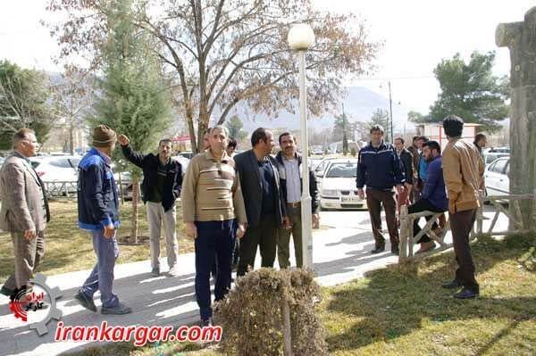 کارگران فضای سبز شهرداری