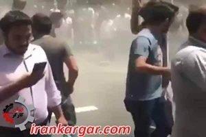 تهران درگیری جلوی مجلس