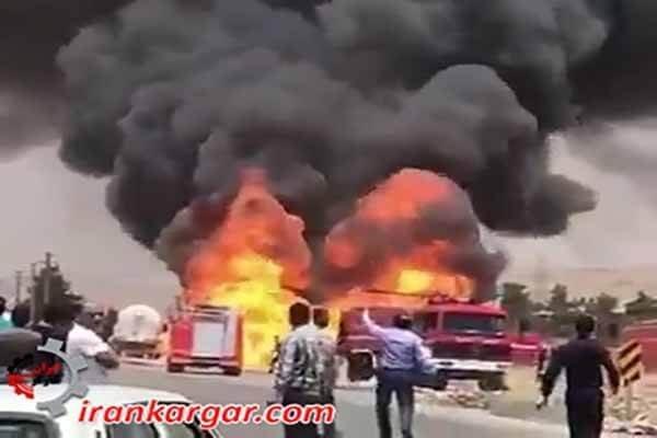 انفجار تریلی حامل سوخت