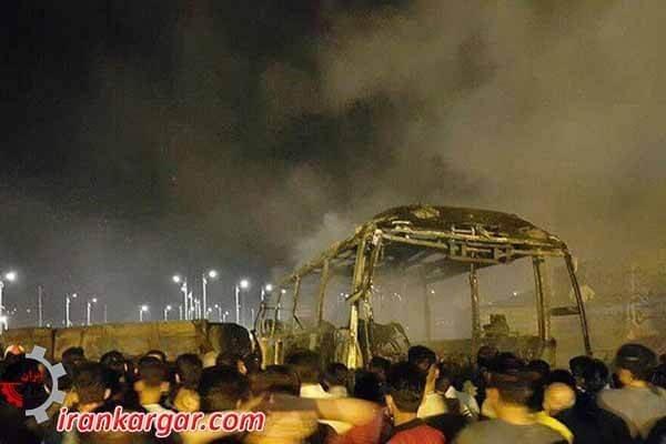 تصادف و انفجار تانکر سوخت با اتوبوس