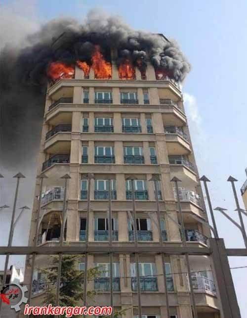 آتش سوزی ساختمان شرکت توسعه صنایع نفت قشم