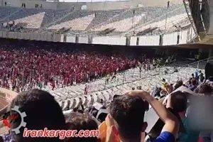 اعتراض در استادیوم آزادی تهران