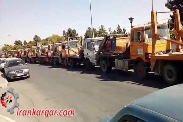 اعتصاب کامیونداران در اصفهان و مشهد