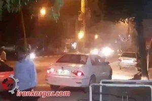 قهدریجان درگیری تظاهرات