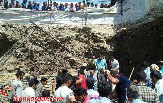 جان باختن دردناک ۴ کارگر بر اثر مدفون شدن در زیر آوار ساختمانی در نهاوند