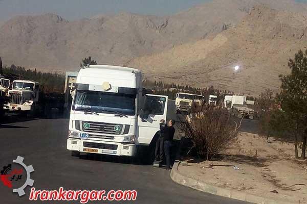 اعتصاب سراسری کامیونداران - راننده اعتصاب شکن