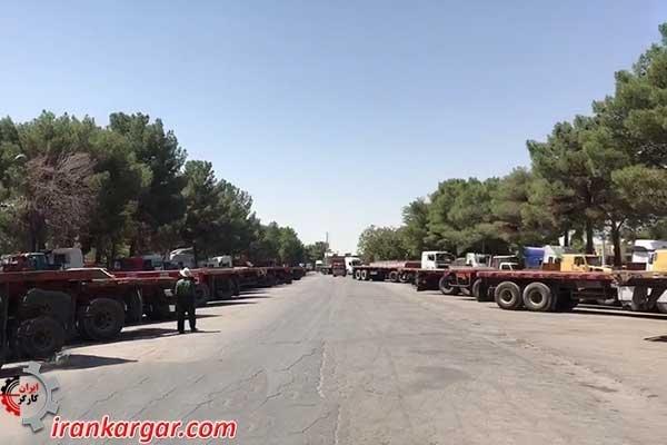 اعتصاب کامیونداران اصفهان در سومین روز خود دوشنبه ۱۲شهریور