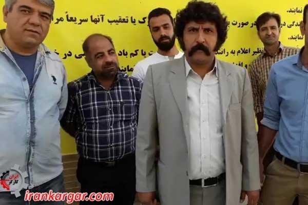 هیچ راهی برای ما به غیر از اعتصاب نمانده یکی از رانندگان اعتصابی اراک