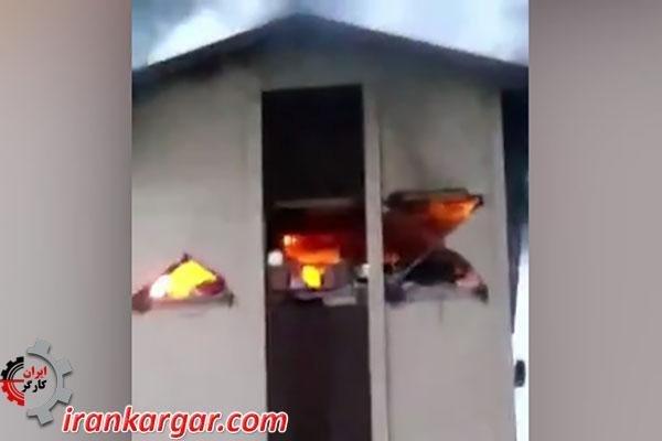 آتش سوزی و انفجار گاز با پرتاب نفر به بیرون ساختمان و جان باختن وی در مسکن مهر رشت