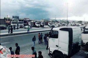 زمینگیر شدن چندهزار دستگاه کامیون