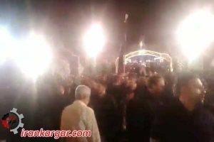 پشت کردن مردم و ترک مراسم عاشورا هنگام سخنرانی میرعمادی امام جمعه خرم آباد