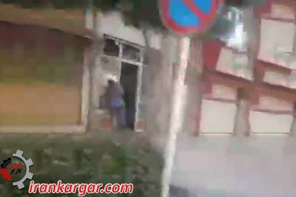 برخورد شجاعانه یک خانم هموطن با یک اعتصاب شکن در سنندج - کلیپ