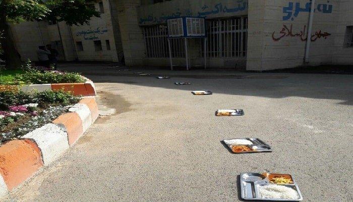 اعتصاب دانشجویان دانشکده علوم اجتماعی دانشگاه رازی-min