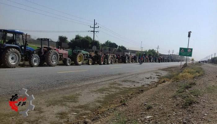 اعتصاب کشاورزان بخش عقیلی شوشتر