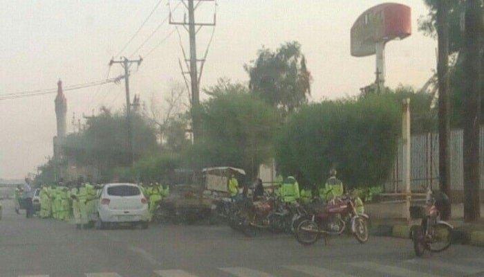 اعتصاب کارگران فضای سبز شهرداری منطقه یک اهواز