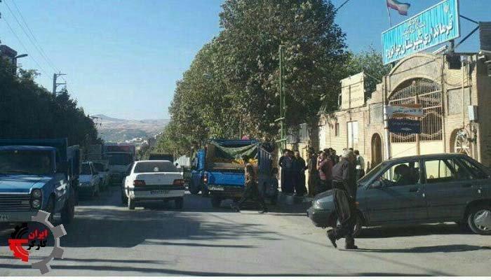 تجمع اعتراضی میوه فروشان سیار در جوانرود