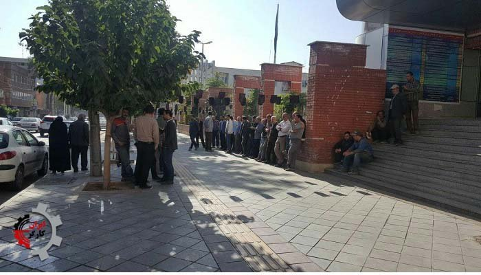 تجمع اعتراضی پرسنل شرکت عمران و نیرو ۱۳۹۷۰۷۲۶