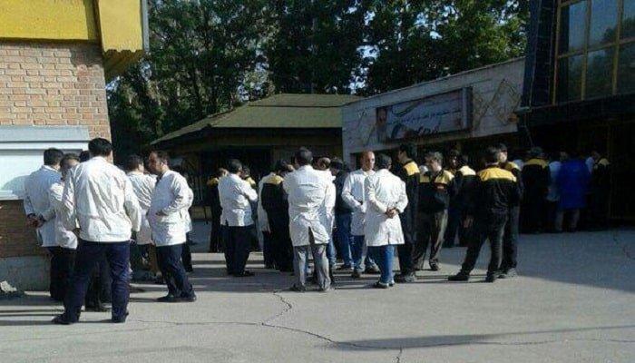 تجمع اعتراضی کارگران کنتورسازی ایران