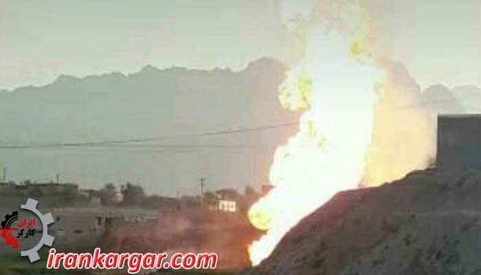 انفجار خطوط فشار قوی درون شهری گاز در باغملک