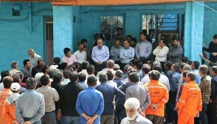 سومین روز اعتصاب کارگران شهرداری مسجد سلیمان